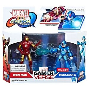 Marvel vs. Capcom- Iron Man & Meg Man X- 3.75""